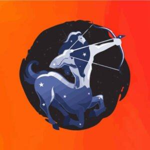 sagittarius zodiac sign banner square